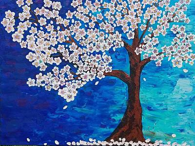Poster featuring the painting Cherry Blossom Tree  by Jennah Lenae