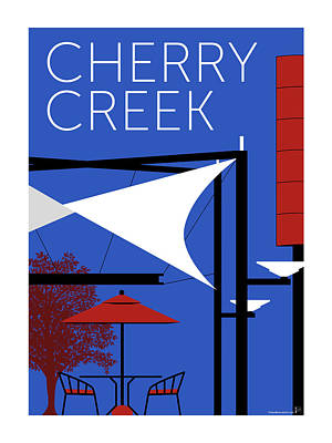 Cherry Creek Blue Poster