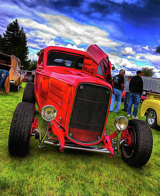 Cherry Red Hot Rod Poster