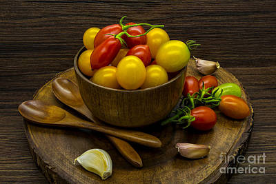 Cherry Tomatoes Still Life Poster