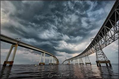 Chesapeake Bay Bridge Storm Poster