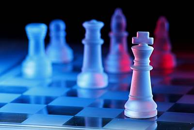 Chess Board Game Poster by Jun Pinzon