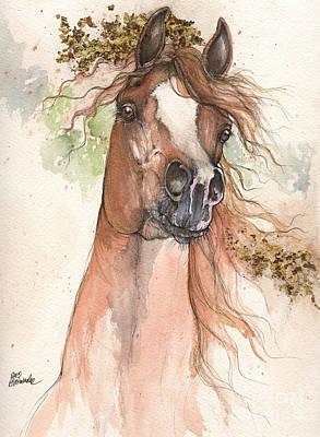 Chestnut Arabian Horse 2015 05 30 Poster by Angel  Tarantella