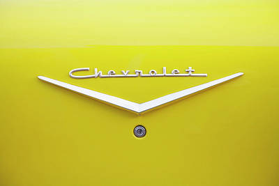 Chevrolet Bel Air In Yellow Poster by Toni Hopper