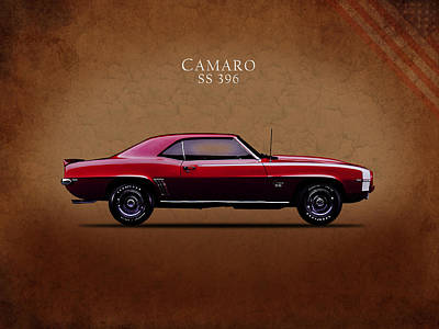 Chevrolet Camaro Ss 396 Poster by Mark Rogan