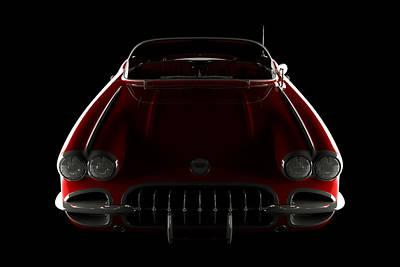 Chevrolet Corvette C1 - Front View Poster