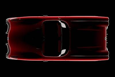 Chevrolet Corvette C1 - Top View Poster