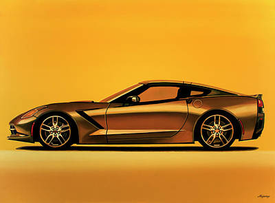 Chevrolet Corvette Stingray 2013 Painting Poster by Paul Meijering