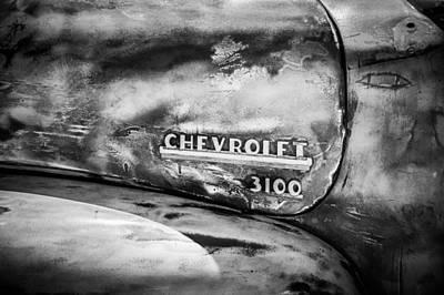 Chevrolet Truck Side Emblem -0842bw1 Poster