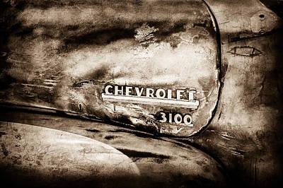 Chevrolet Truck Side Emblem -0842s1 Poster by Jill Reger