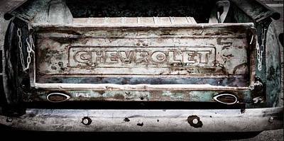Chevrolet Truck Tail Gate Emblem -0839ac Poster by Jill Reger
