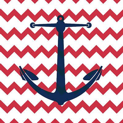 Chevron Anchor Poster