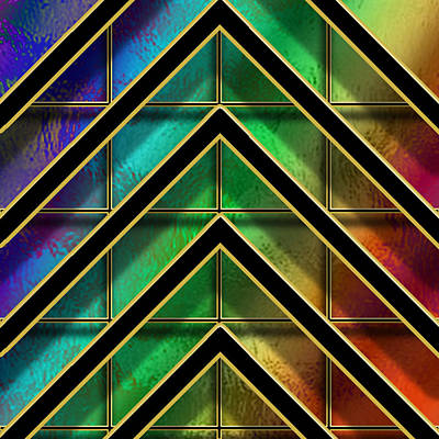 Chevrons And Squares On Glass Poster by Chuck Staley