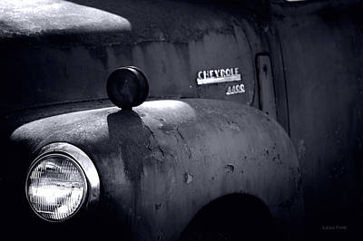 Chevy 4400 Bw Poster by Lesa Fine