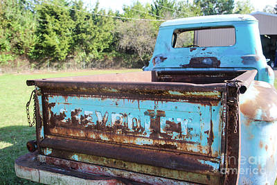 Chevy Back Window Poster by Laura Deerwester