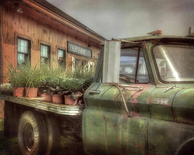 Poster featuring the photograph Chevy C 30 Pickup Truck - Colby Farm by Joann Vitali
