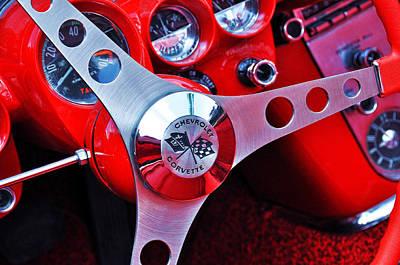 Chevy Corvettte Steering Wheel Poster