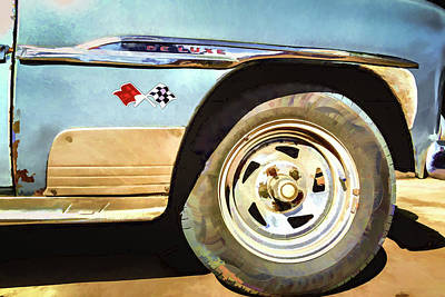 Poster featuring the photograph Chevy Deluxe by Lou Novick