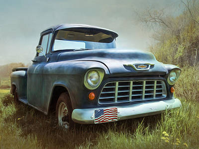 Poster featuring the photograph Chevy Truck by Robin-Lee Vieira