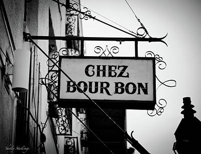 Chez Bourbon  Poster by Shelly Stallings