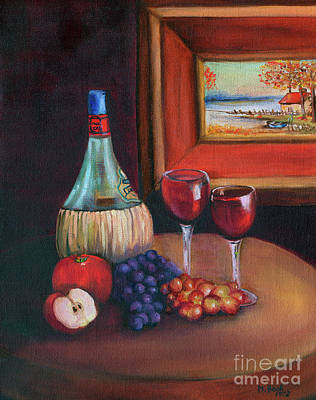 Chianti Still Life Poster by Marlene Book