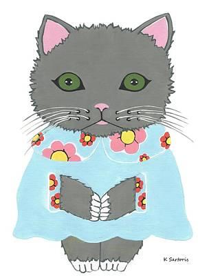 Chic Cat Poster by Kathleen Sartoris