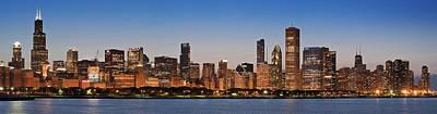 Chicago 2011 Skyline Poster by Donald Schwartz