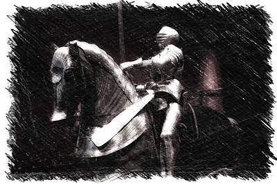Chicago Art Institute Armored Knight And Horse Pa 01 Poster by Thomas Woolworth