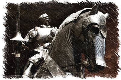 Chicago Art Institute Armored Knight And Horse Pa 02 Poster by Thomas Woolworth