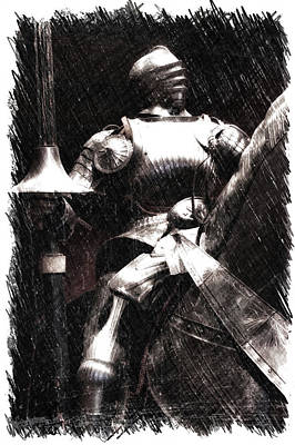 Chicago Art Institute Armored Knight Pa Vertical Poster by Thomas Woolworth
