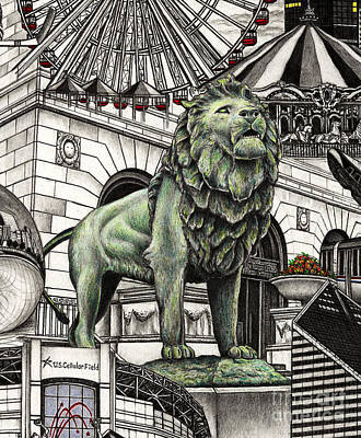 Chicago Art Institute Lion Poster