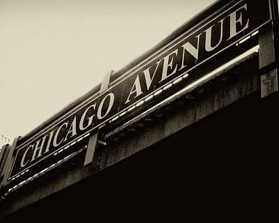 Chicago Avenue In Sepia Poster