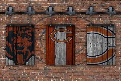 Chicago Bears Brick Wall Poster