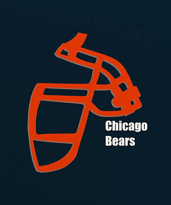 Chicago Bears Retro  Poster