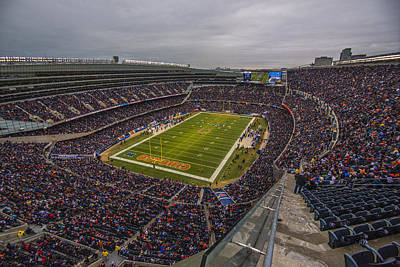 Chicago Bears Soldier Field 7790 Poster by David Haskett