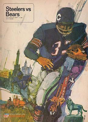 Chicago Bears Vintage Program 9 Poster