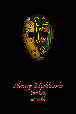 Chicago Blackhawks Established Poster by Joe Hamilton