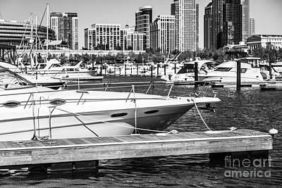 Chicago Burnham Harbor Black And White Photo Poster by Paul Velgos