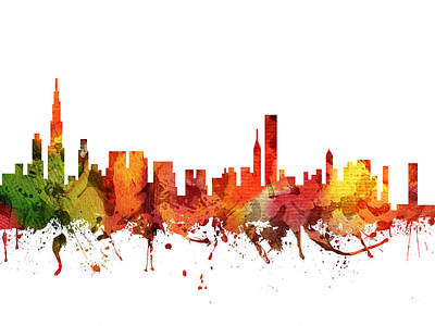 Chicago Cityscape 04 Poster by Aged Pixel