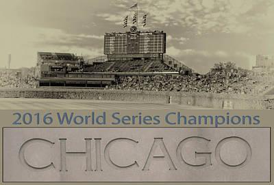 Chicago Cubs 2016 World Series Scoreboard Poster