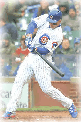 Chicago Cubs Anthony Rizzo Poster by Joe Hamilton