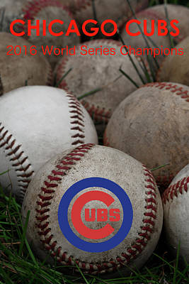 Chicago Cubs World Series Poster Poster by David Patterson