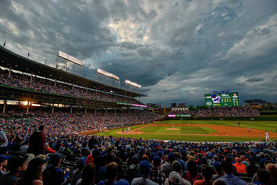 Chicago Cubs Wrigley Field 2 8287 Poster by David Haskett