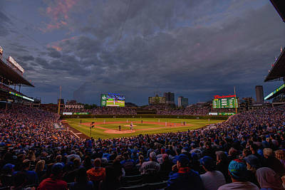 Chicago Cubs Wrigley Field 7 8321 Poster by David Haskett