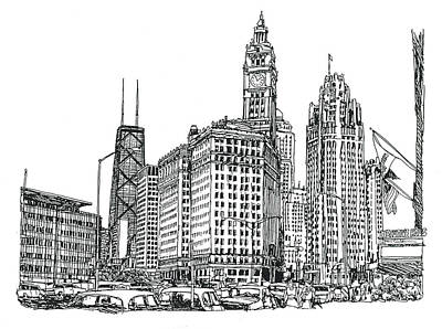 Chicago Downtown Poster