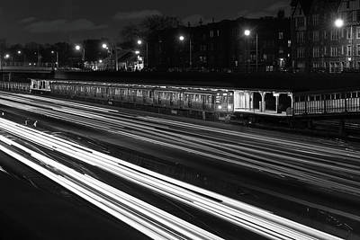 Chicago Evening Commute Poster by Steve Gadomski