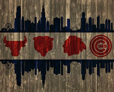 Chicago Flag Barn Door Poster