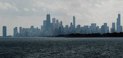 Chicago From Belmont Harbor Poster
