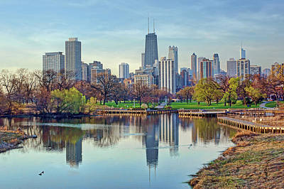 Chicago From Lincoln Park Poster