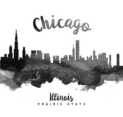 Chicago Illinois Skyline 18 Poster by Aged Pixel